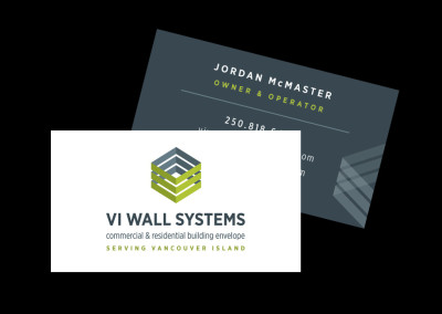 VI Wall Systems. Brand Design. Business Card Design.
