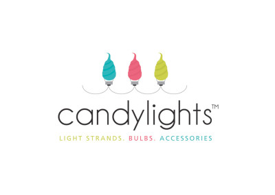 Candy Lights. Logo Design. Boutique By Design.