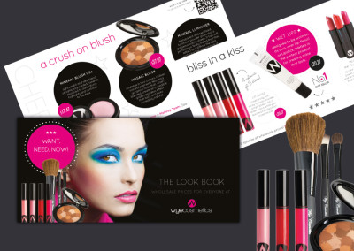Wye Cosmetics. Brand Design. Product Catalogue. Boutique By Design.