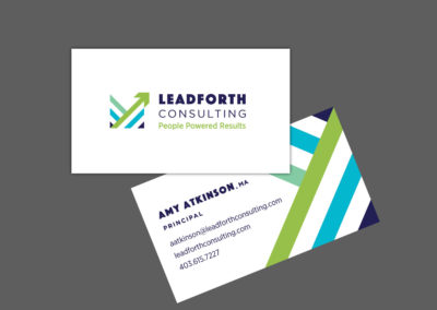 Leadforth Consulting. Brand and Business Card Design.