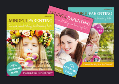 Mindful Parent Magazine. Brand and Magazine Design.
