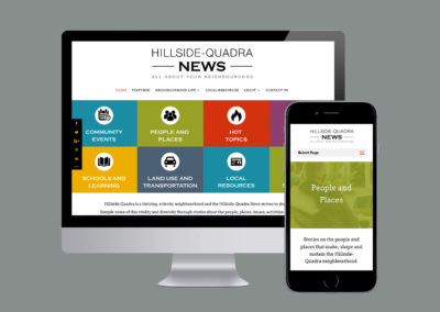 Hillside Quadra News. Brand, Logo Design, Website Design & Development.