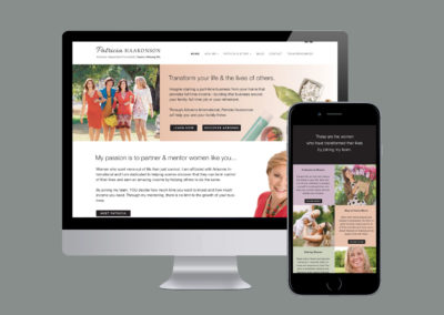 Patricia Haakson. Brand, Logo Design, Website Design & Development.
