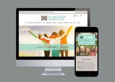 She Recovers. Brand & Website Design & Development.